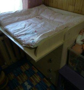 Детский комод с пеленальным столиком