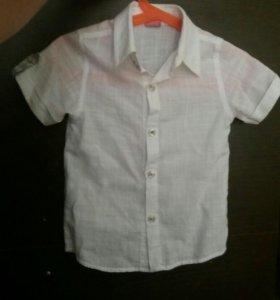 Рубашка для мальчика лен р 98