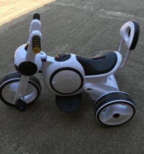 Электроцикл 2 в 1 машина велосипед