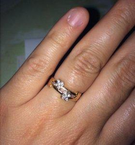 Золотые кольца 585 пробы,16,5 размер,и 17размер