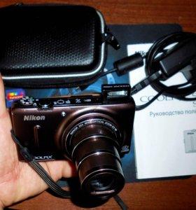 Nikon Coolpix s9500+ чехол+2 батареи+ 8 gb