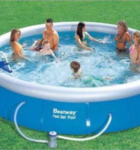 Надувной бассейн Fast Set, круглый - 4,57x0,9 м