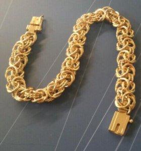 Браслет золото 585 серебро 925
