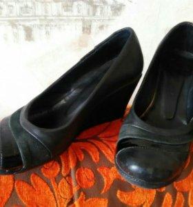 Туфли 34-35р-р кожа