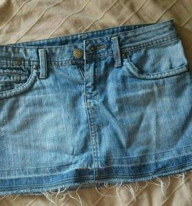 Джинсовая юбка Mango