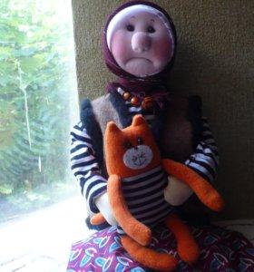 Интерьерная кукла баба Яга.
