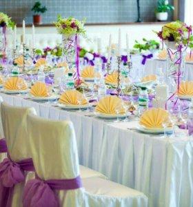 Оформление свадеб, юбилеев, детских праздников.