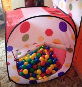Складной домик с шарами