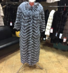 Пальто из чернобурки на кашемире