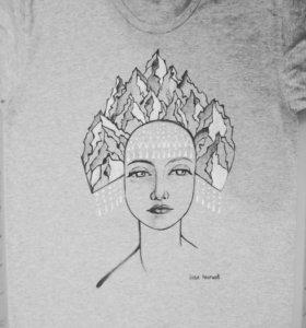 Новая футболка, авторский принт