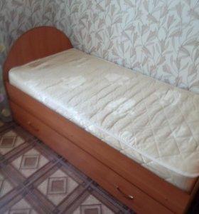 Двухъярусная выдвижная детская кровать