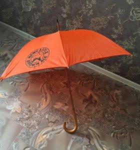 Зонт трость большой, новый,полуавтомат