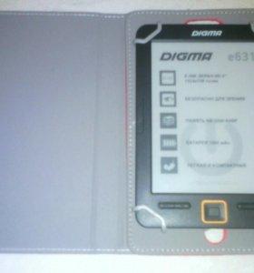 Электронная книга DIGMA с чехлом