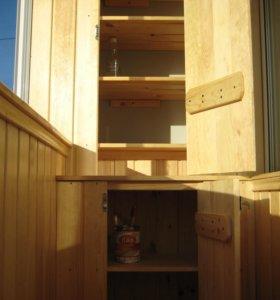 Балконы, беседки, веранды, обшивка бань и др.