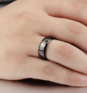 Кольцо черное мужское
