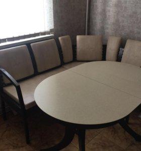 """Набор кухонный стол, уголок, стул фирмы """"Лидер"""""""