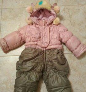Комбинезон детский на девочку зима 80 см