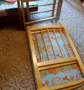 Детская кроватка ТОРГ) с кокосовым матрасиком!