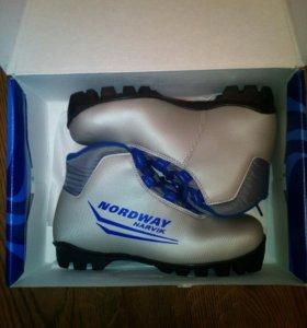 Ботинки для беговых лыж б\у Nordway.