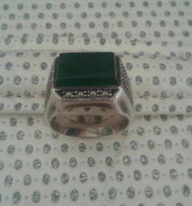 Мужское кольцо серебро
