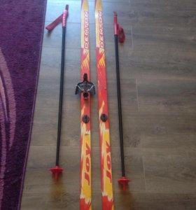 Лыжи детские с ботинками 30 р-р