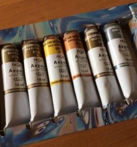 """Качественные краски: набор из 6 цветов """"Деко"""""""