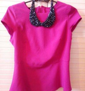 Блуза ,44р , воротничок съёмный