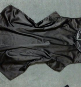 Черный топ блузка