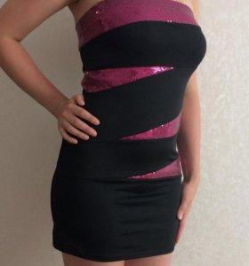 Чёрное коктейльное платье 👗