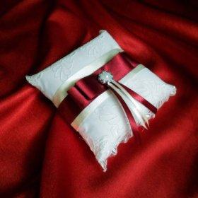 Свадебные аксессуары. Набор в бордовом цвете