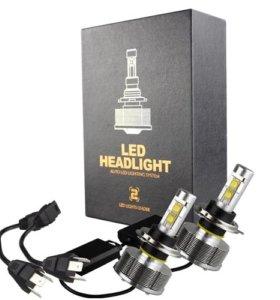Светодиодные LED лампы цоколь Н4Би 6000k 3000LM