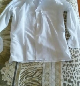 Рубашка школьнику белая
