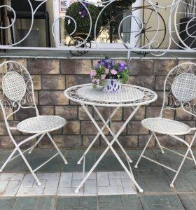 Кованная мебель, набор стол+2 стула.