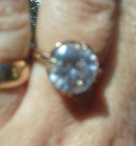 Серебряное кольцо с золочением
