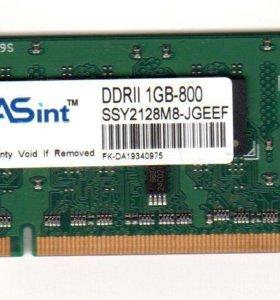 модуль памяти ASint DDR2 1Gb 800Mhz SODIMM