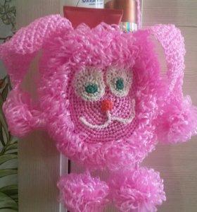 Мочалка-сумка-игрушка