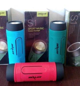 ZEALOT S1 Музыкальная Блютуз колонка с фонариком.