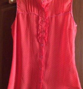 Шифоновая летняя блузка р 46