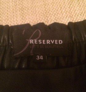 шорты reserved кожзам