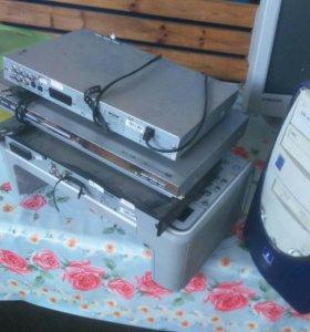 3 дивиди и принтер, системные блок