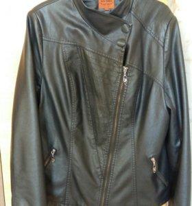 Куртка кожаная размер 54