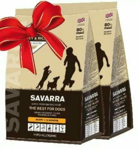 Сухой корм премиум класса Savarra для Щенков,17 кг