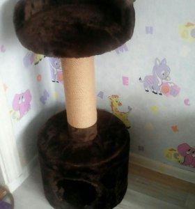 Когтеточка + домик для кошки