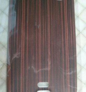 Задняя крышка под дерево Samsung Note 4, стилус