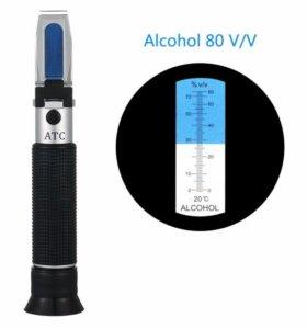 Рефрактометр-спиртомер (0-80 спирта)