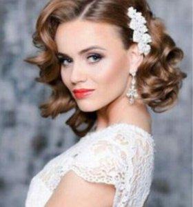 Свадебные, вечерние прически, плетение кос