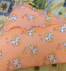 Бортики на кроватку детскую в идеальном состоянии