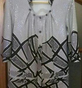Блузка б/у размер 52-54