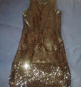 Платье Incity чёрное с пайетками на 42 р-р