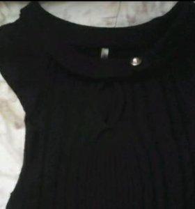 Маленькое,черное(вязаное)платье Xs